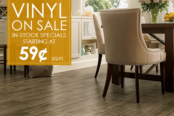 Vinyl on sale!  In-Stock specials starting at 59¢ sq.ft.