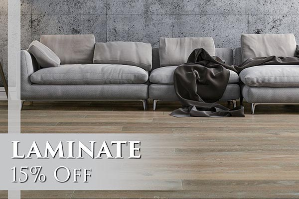 Laminate 15% OFF - Come visit us today at Abbey Carpet & Floor of San Mateo