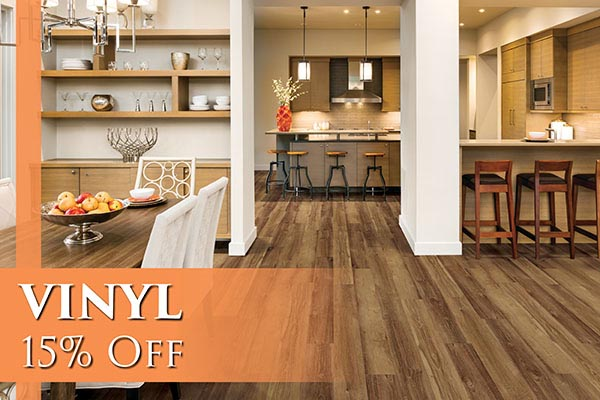 Vinyl 15% OFF - Come visit us today at Abbey Carpet & Floor of San Mateo